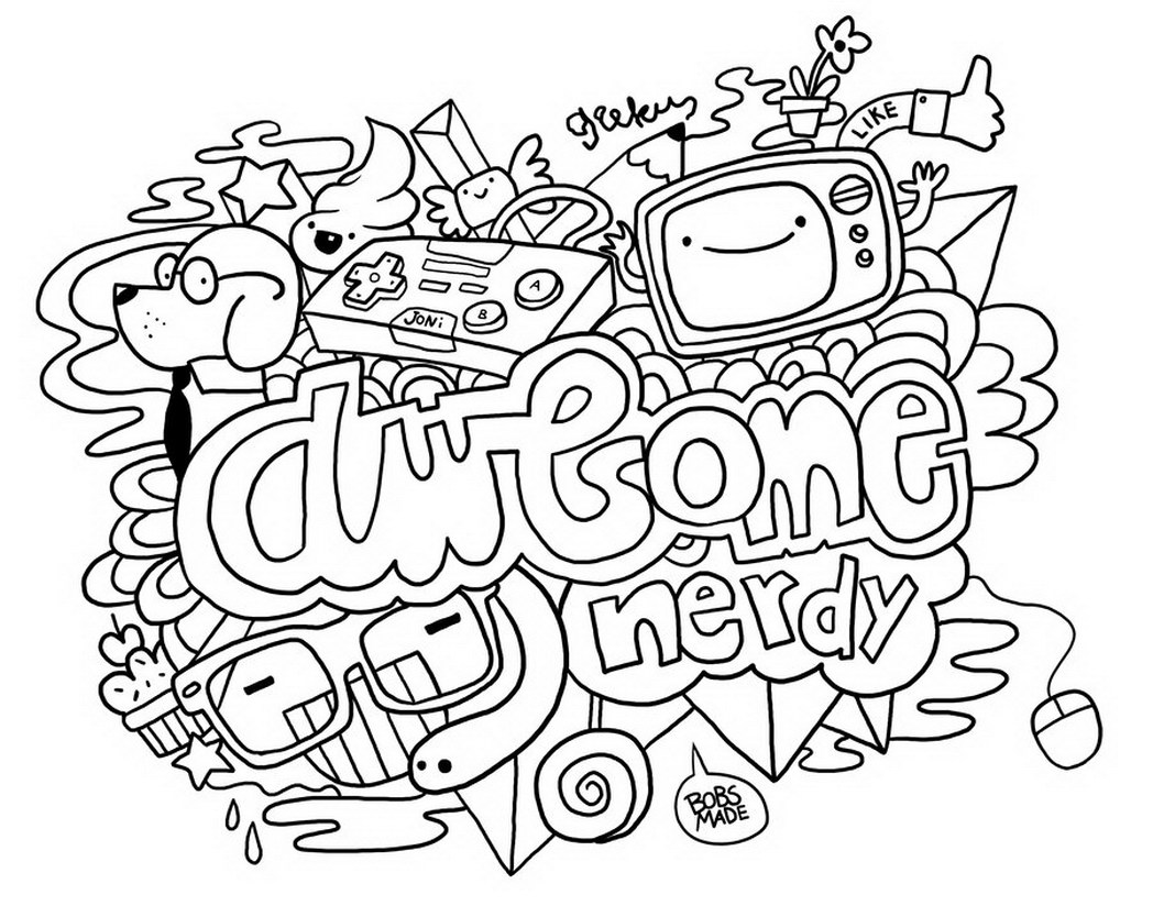Doodle Coloring Pages Awesome