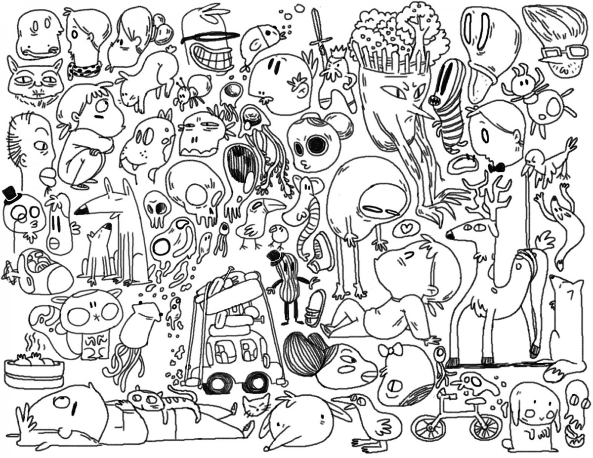 Download Coloring Pages  Doodle Coloring Pages  Doodle Coloring