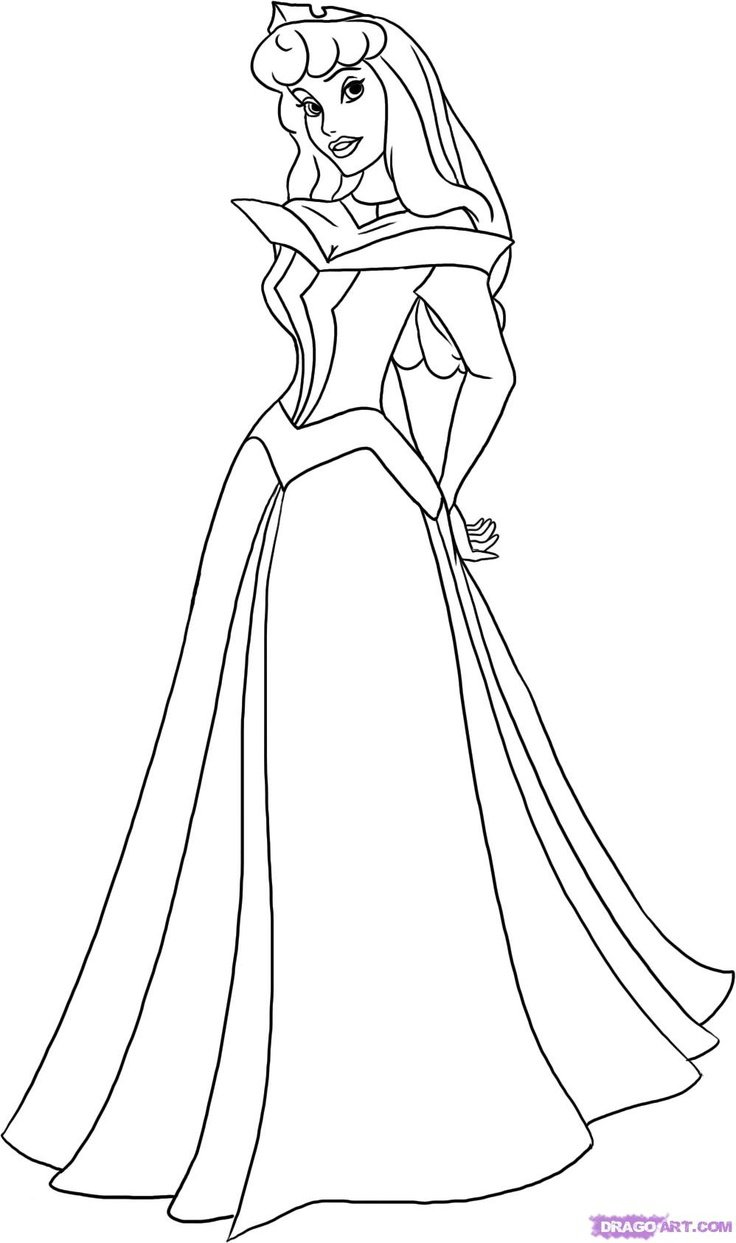 Download Coloring Pages Aurora And