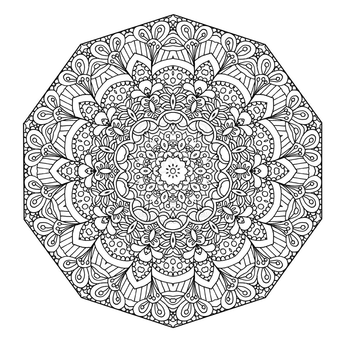 Downloads Advanced Mandala Coloring Pages 58 For Line Drawings