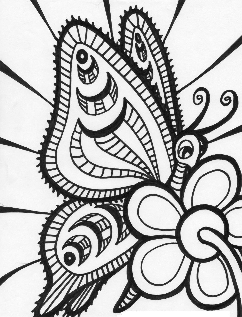 Downloads Online Coloring Page Free Butterfly Coloring Pages 88