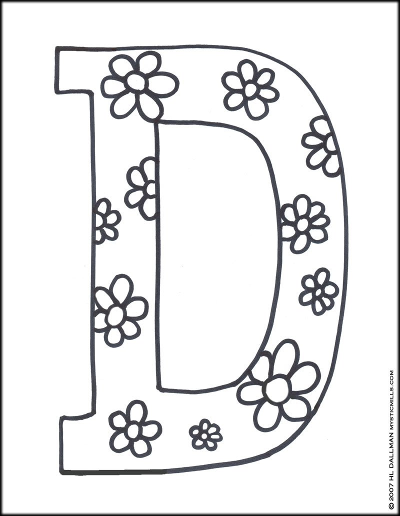 Downloads Online Coloring Page Letter D Coloring Pages 35 With