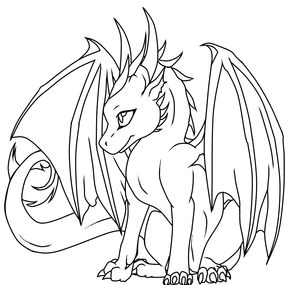 Dragon Coloring Pages 253 With