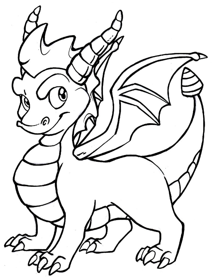 Dragon Coloring Pages Spyro Coloring Pages Of Cartoon Dragons 4905