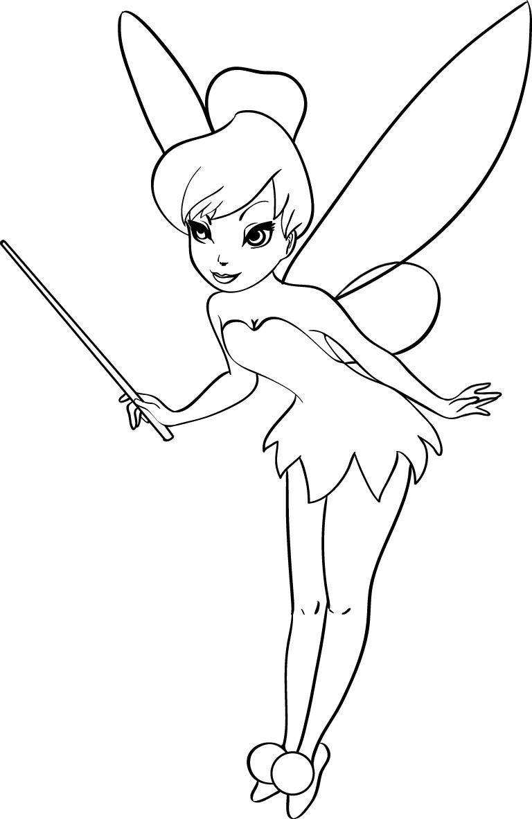 Draw Tinkerbell Coloring Pages 21 In Picture Coloring Page With