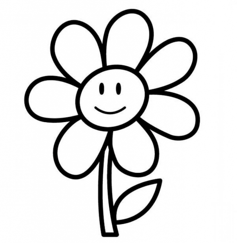 Drawing Flower For Kids Colour Pencil Drawings Of Flowers Pencil