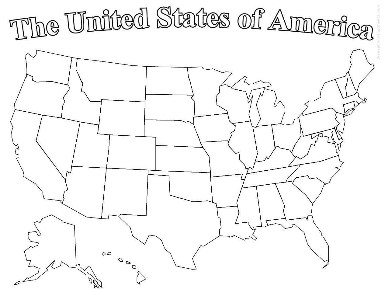 Drawing United States Map Coloring Page 96 On Pictures With United