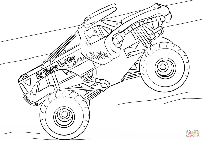 El Toro Loco Monster Truck Coloring Page