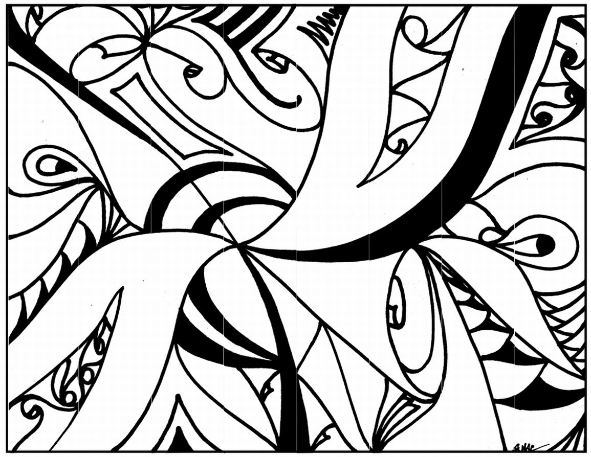 Elegant Abstract Art Coloring Pages 41 For Your Coloring For Kids