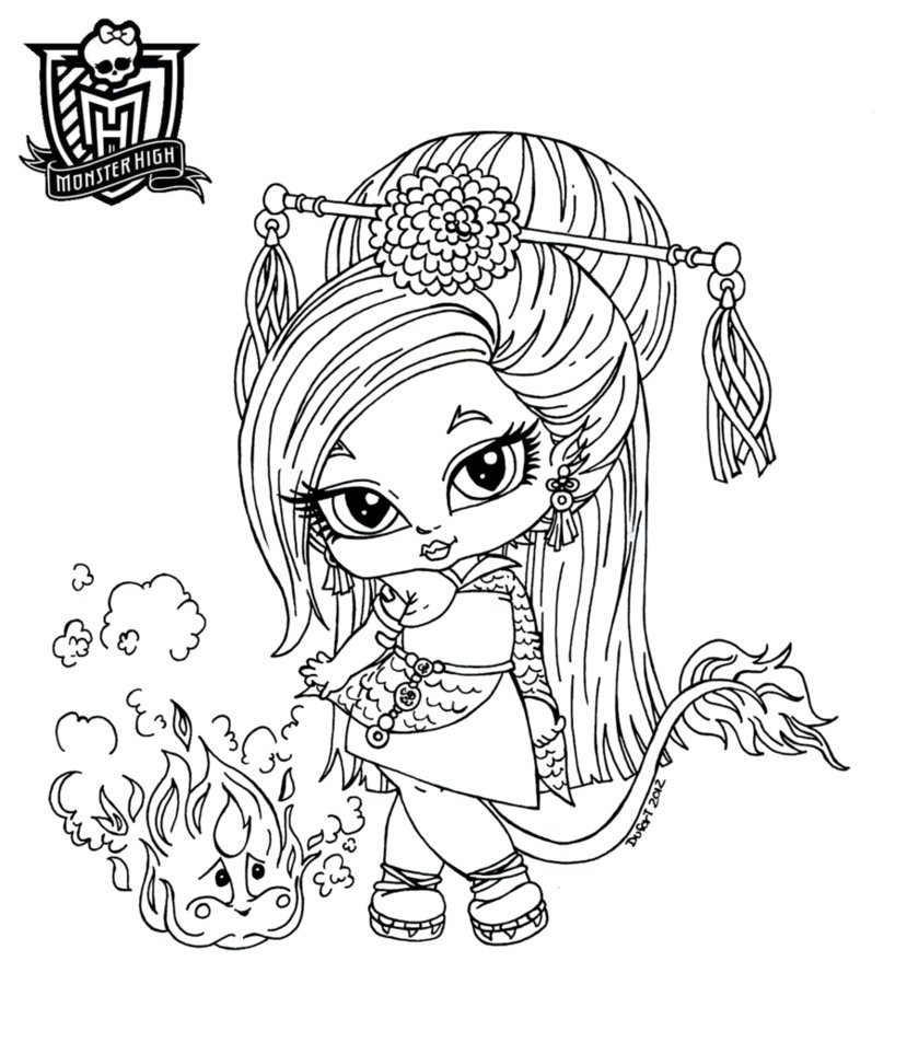 Elegant Monster High Coloring Pages Baby 30 For Coloring Site With