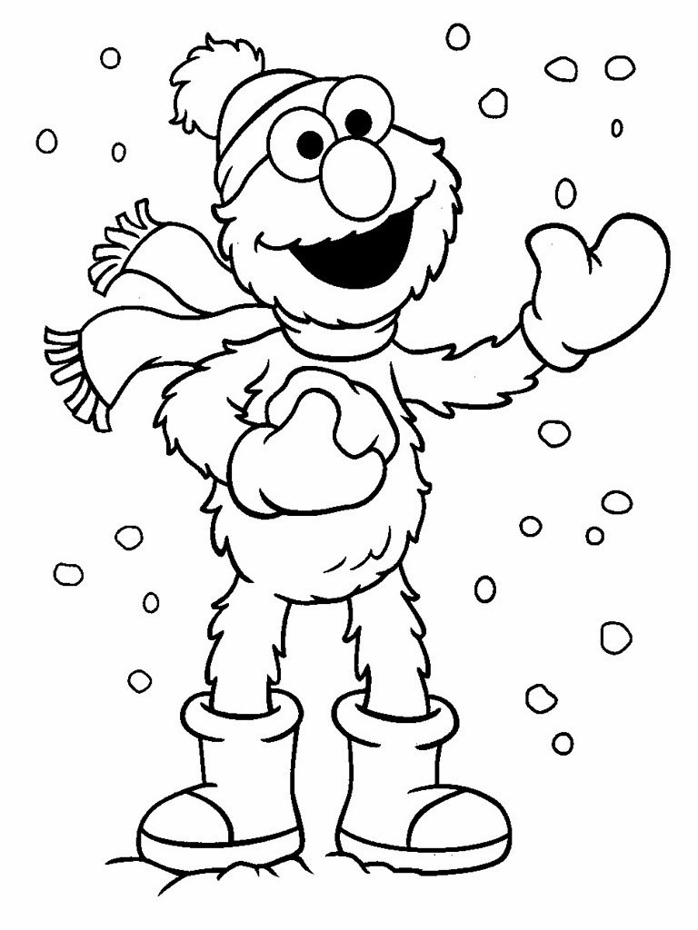 Elmo Coloring Pages Photo In Elmo Coloring Pages Free Printable At
