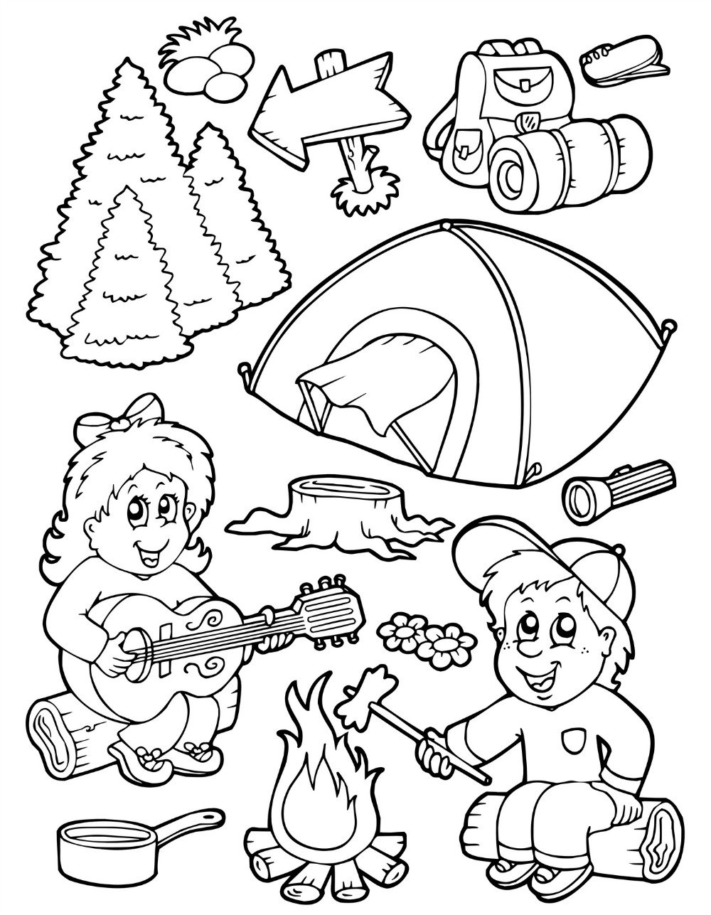 Epic Camping Coloring Pages 96 For Coloring Pages For Kids Online