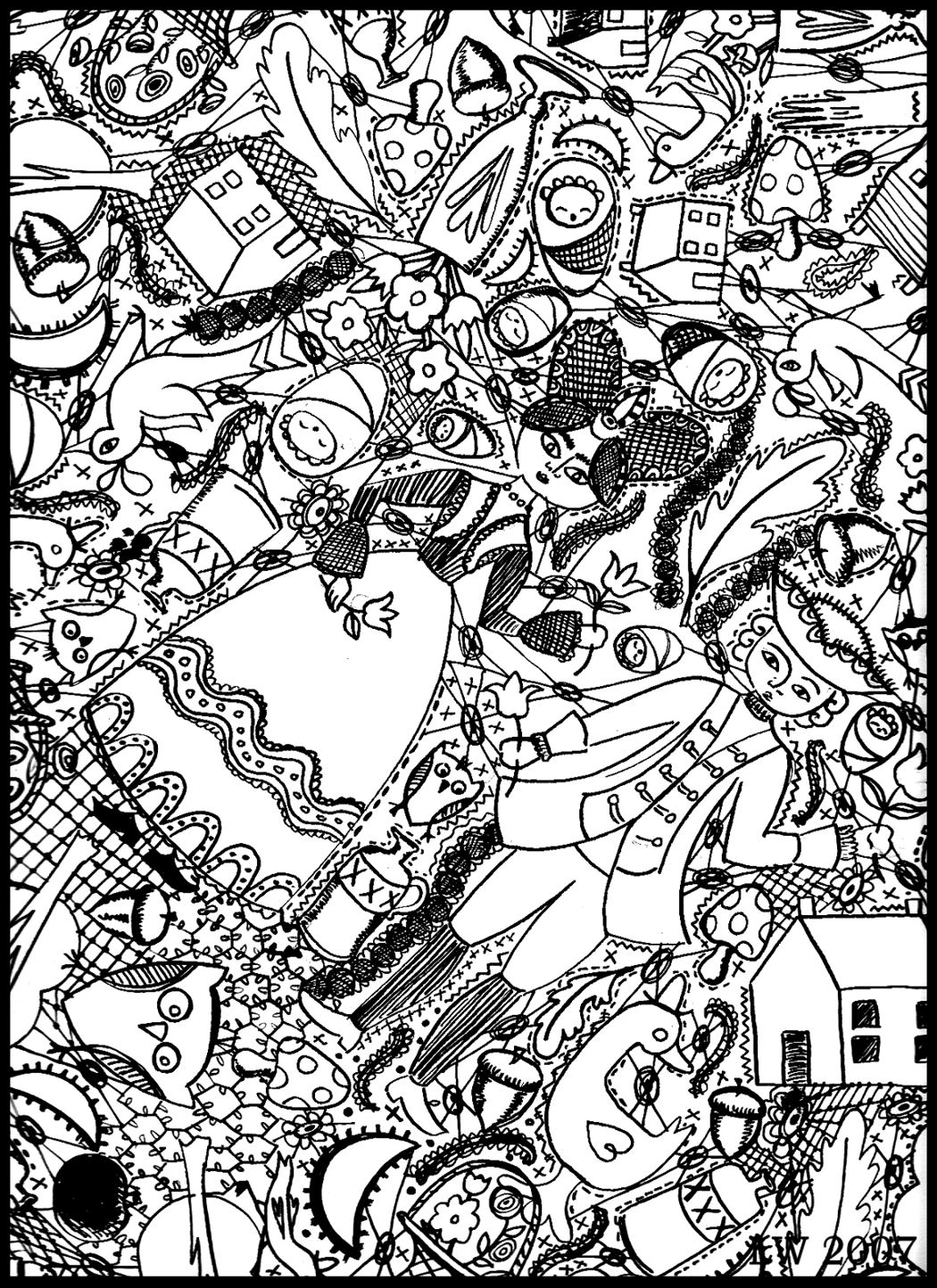 Epic Doodle Coloring Pages 39 On Picture Coloring Page With Doodle