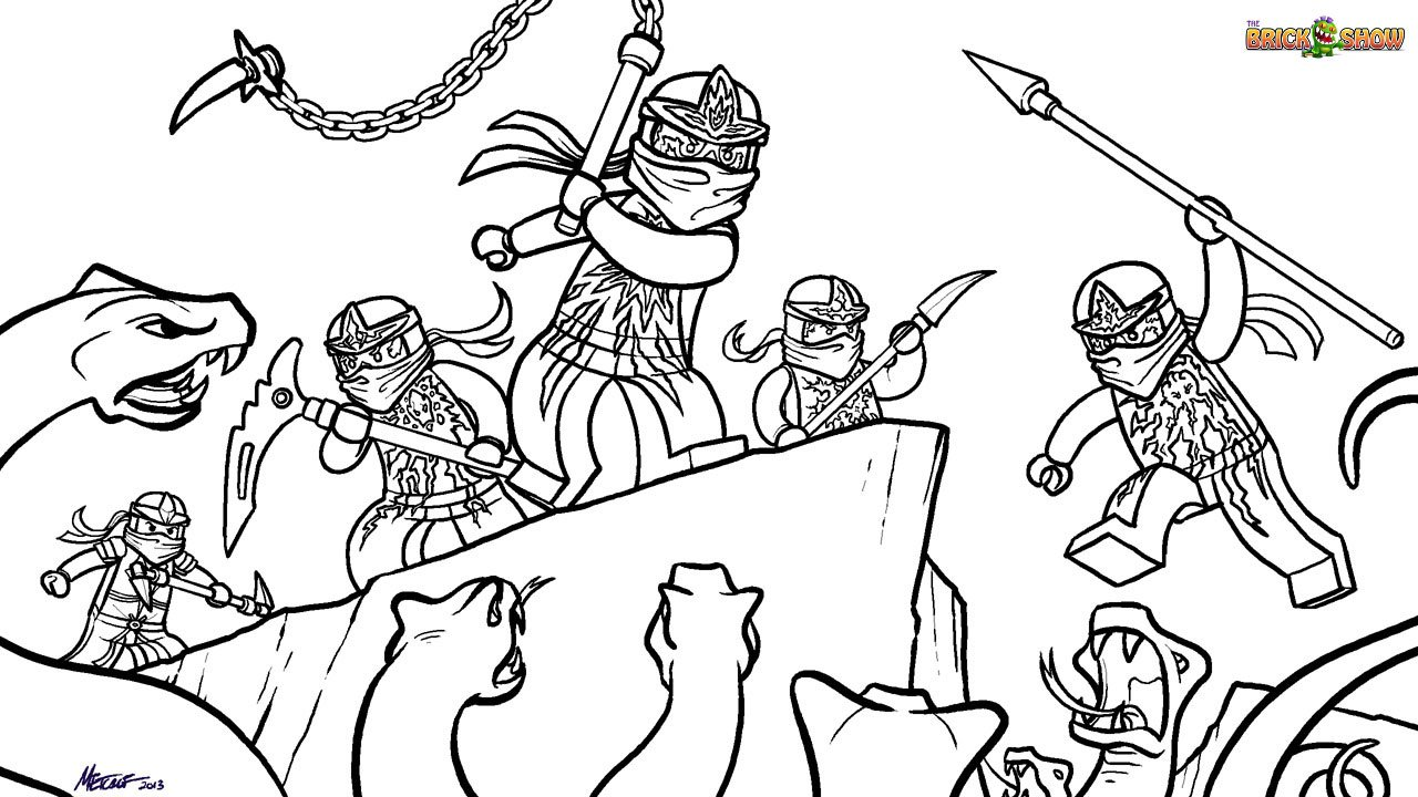 Epic Lego Ninjago Coloring Pages 50 For Your Gallery Coloring