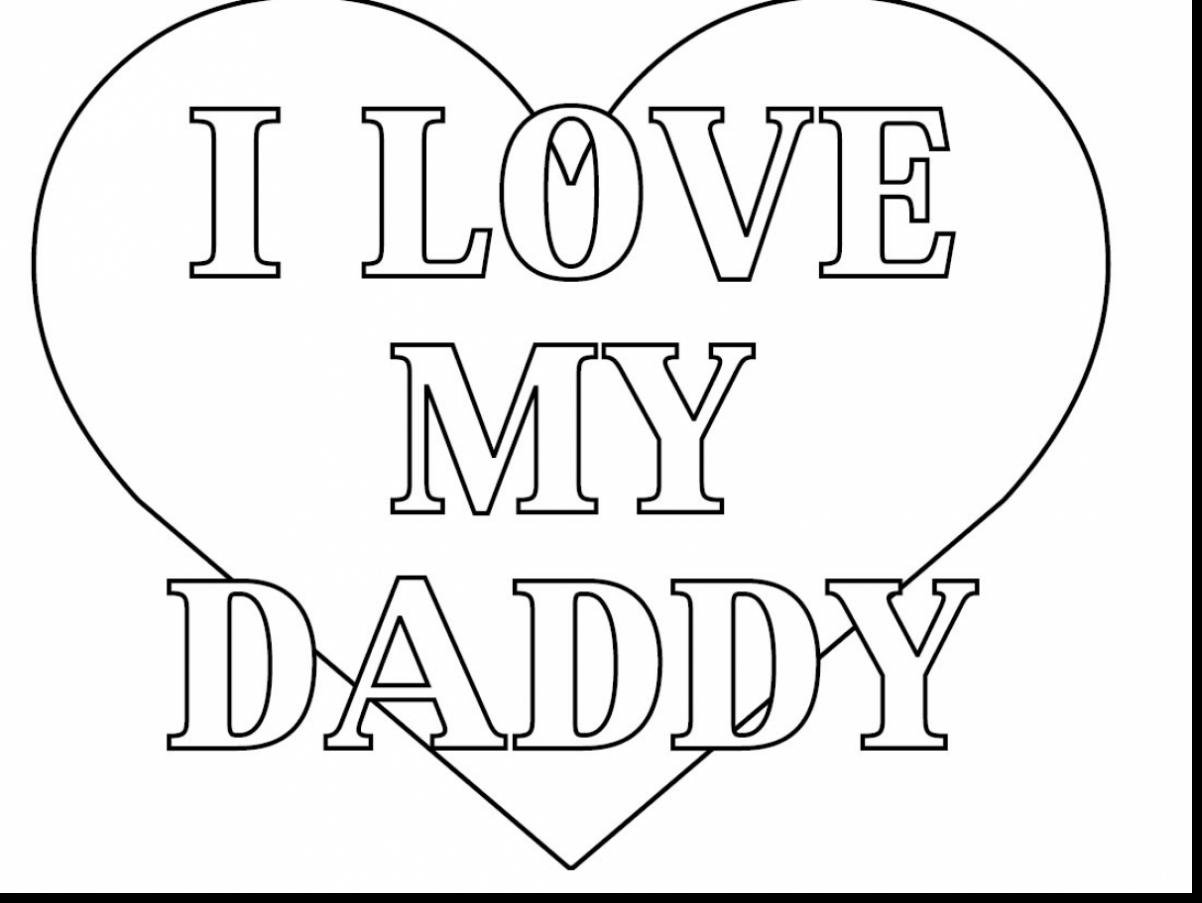 Excellent Love Daddy Coloring Pages With Happy Fathers Day