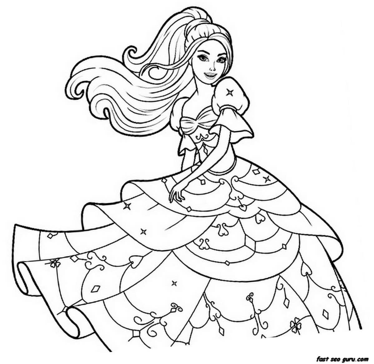 Fancy Color Pages For Girls 14 On Picture Coloring Page With Color