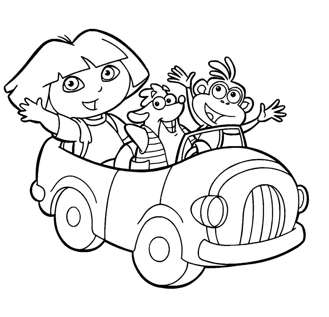 Fancy Dora Printable Coloring Pages 46 For Your Coloring Books