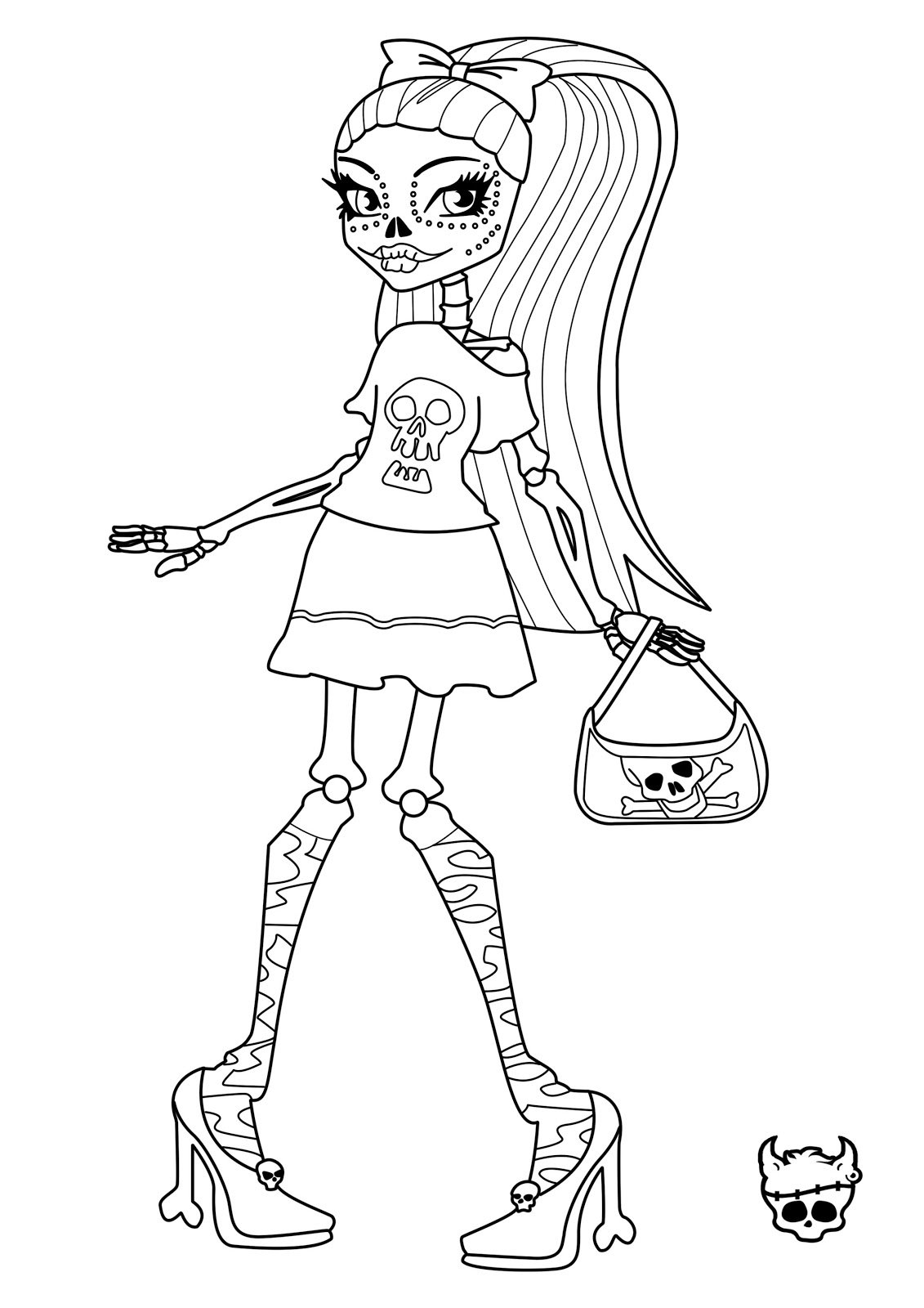 Fancy Monster High Coloring Pages 27 About Remodel Free Coloring