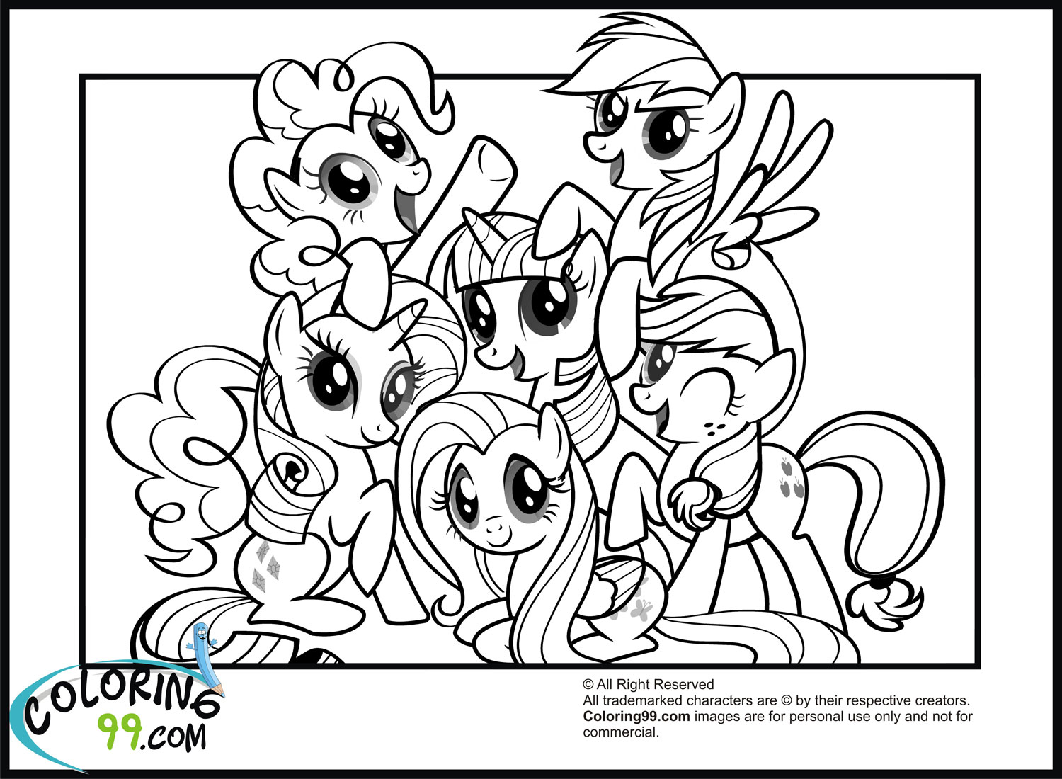 Fancy My Little Pony Friendship Is Magic Coloring Pages 24 In Free