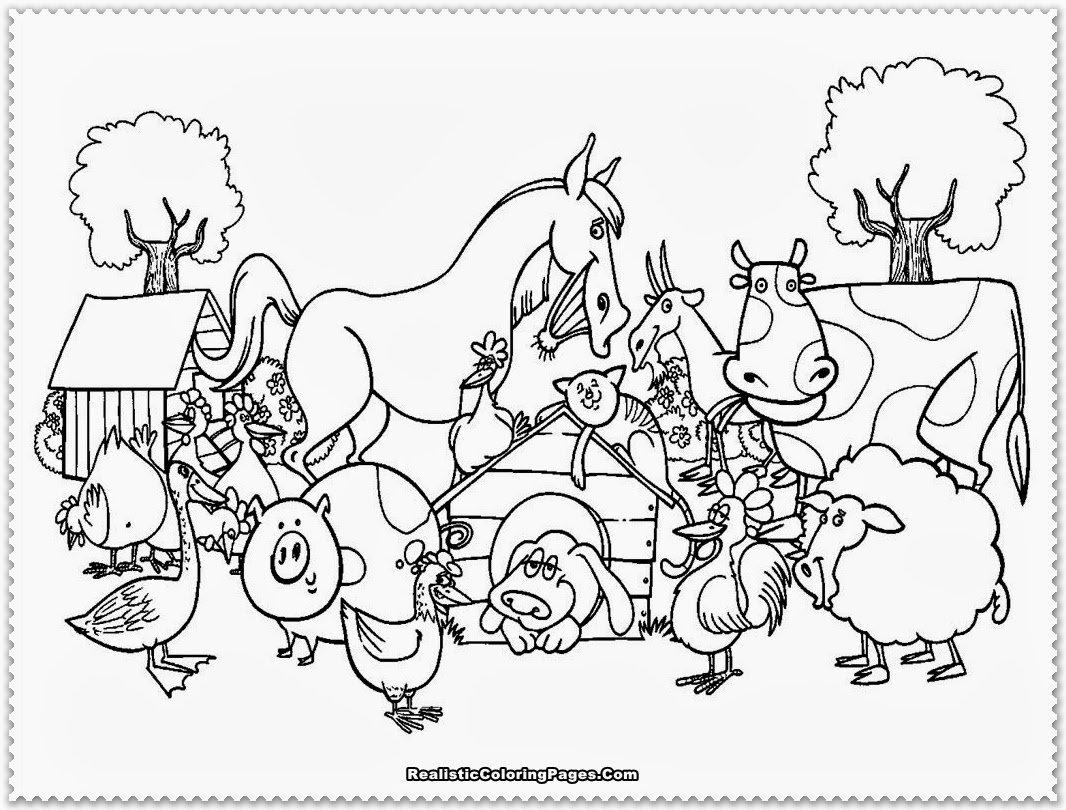 Farm Coloring Pages To Print Archives Inside Farm Animals Coloring