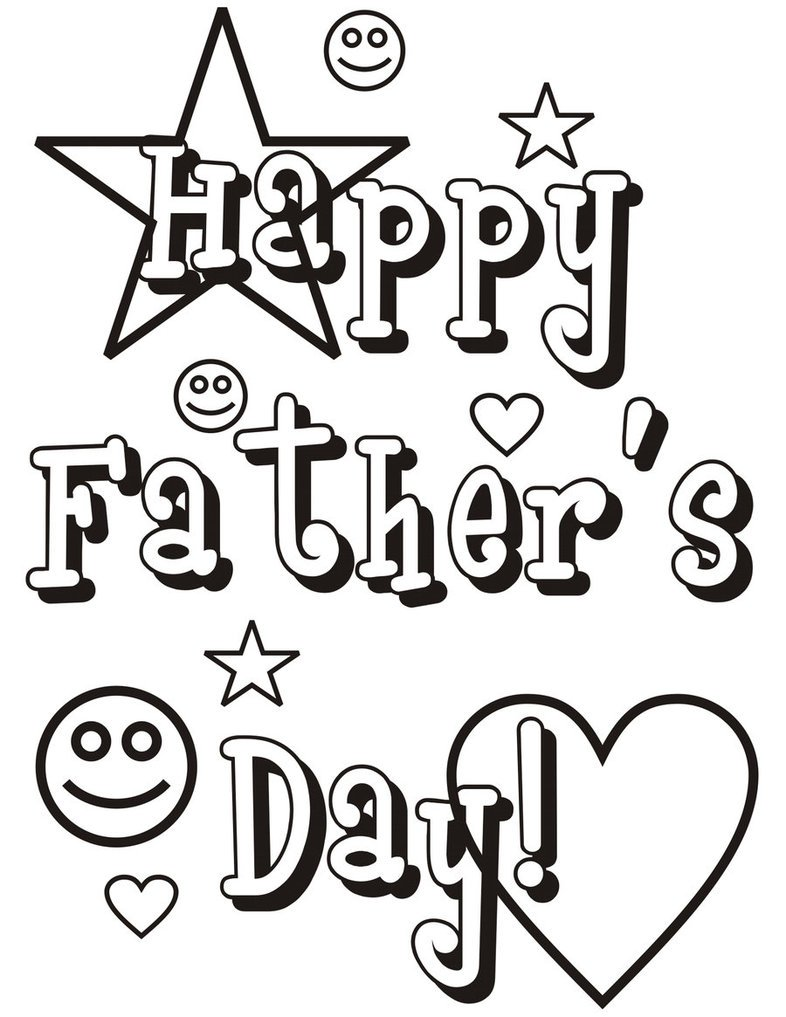 Fathers Day Coloring Pages Neo Coloring Father Throughout S