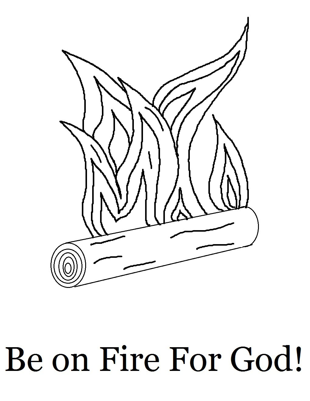 Fire Coloring Page And Pages