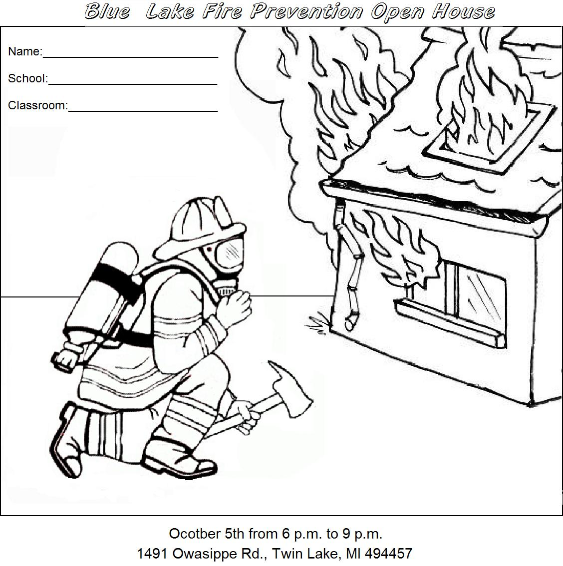 Fire Safety Coloring Pages   Best Coloring Pages
