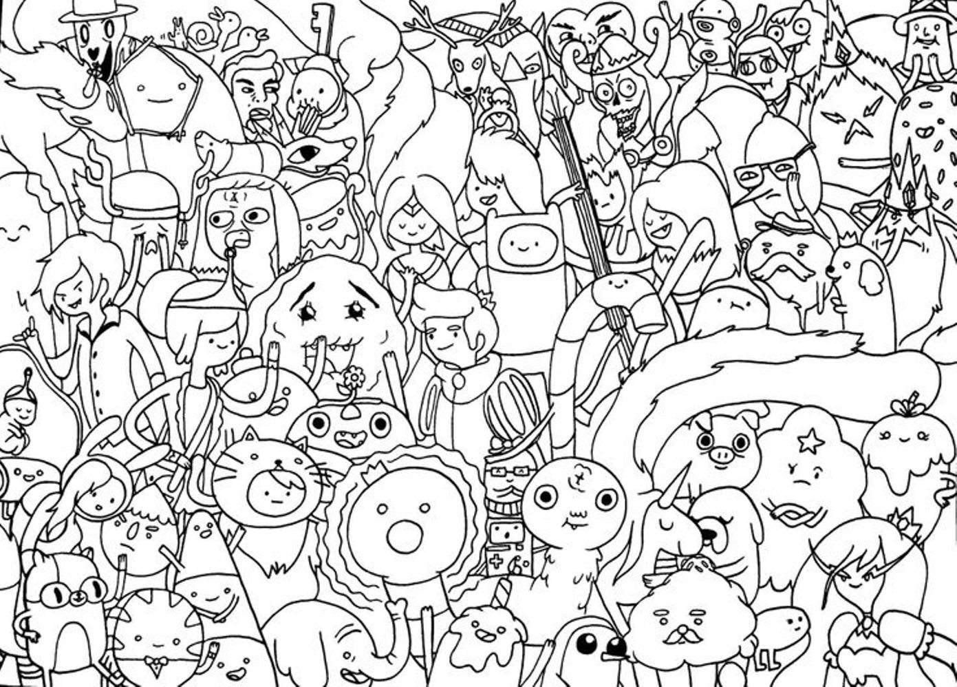 Free Cartoon Adventure Time Coloring Pages