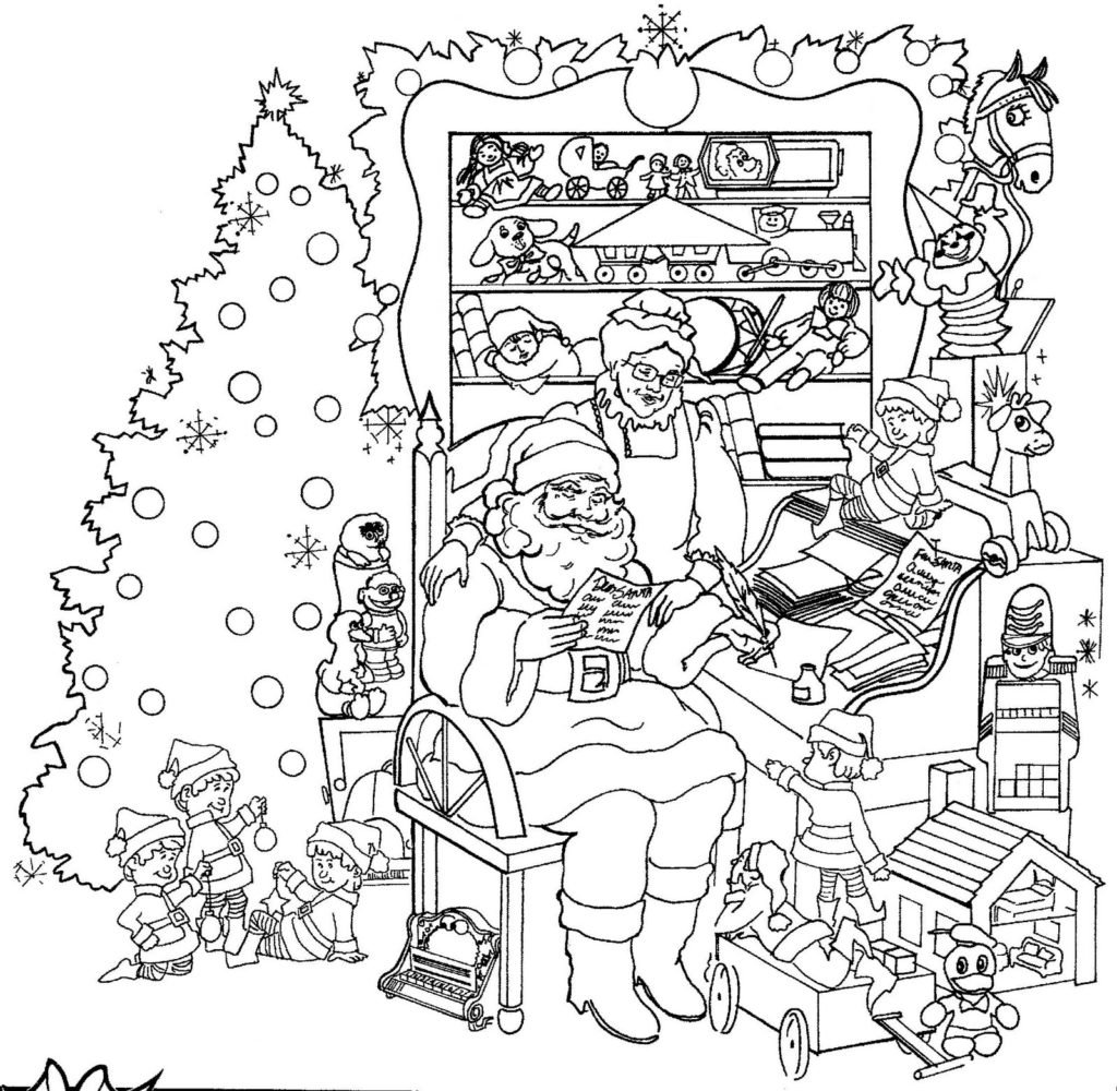 Christmas Colouring Pages For Adults To Print