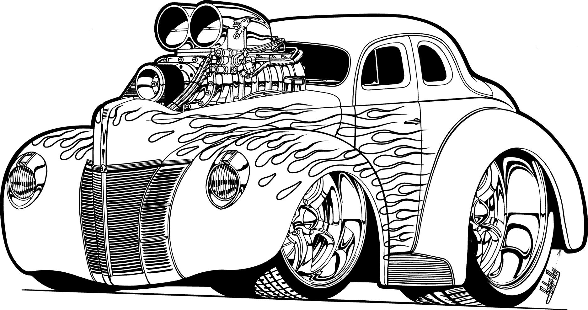 Free Download Free Car Coloring Pages 99 With Additional Coloring