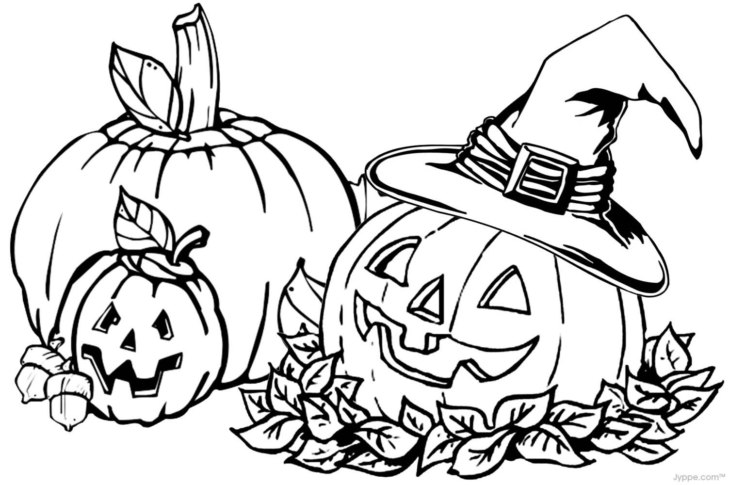 Free Fall Coloring Pages Printable With For Kids
