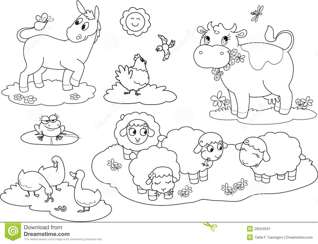 Free Farm Animal Coloring Pages And Animals