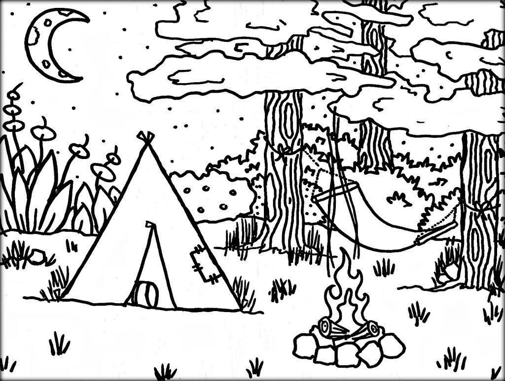Free Printable Camping Coloring Sheets