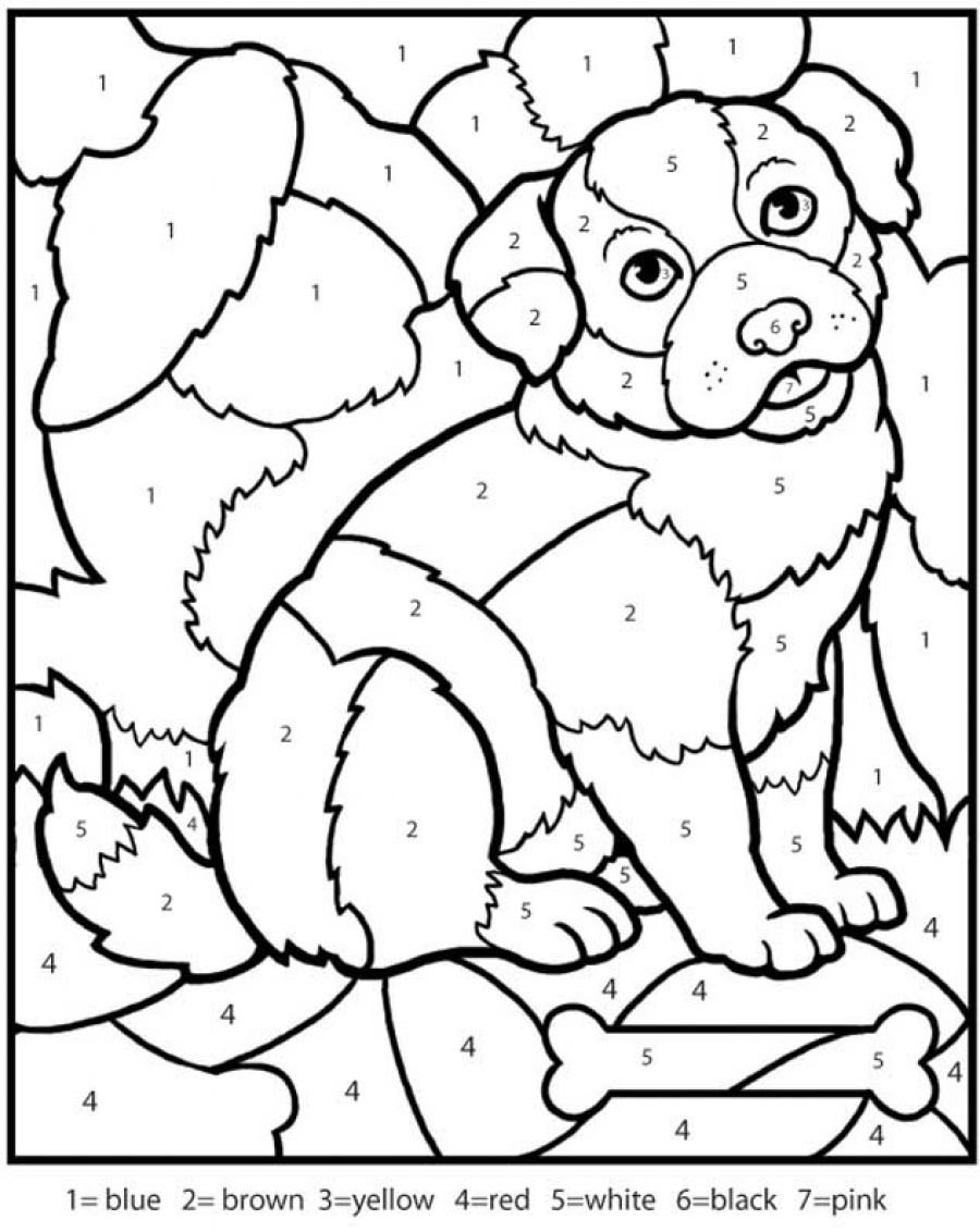 Free Printable Color By Number Coloring Pages For At