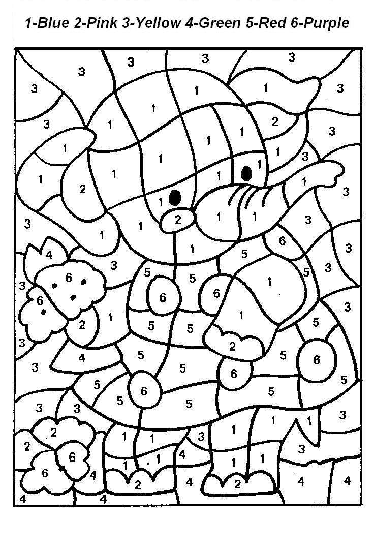 Free Printable Color By Number Coloring Pages Throughout Numbers