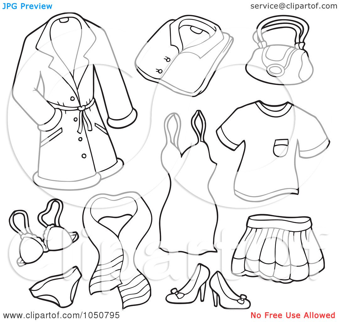 Free Printable Coloring Pages Clothing And Clothes