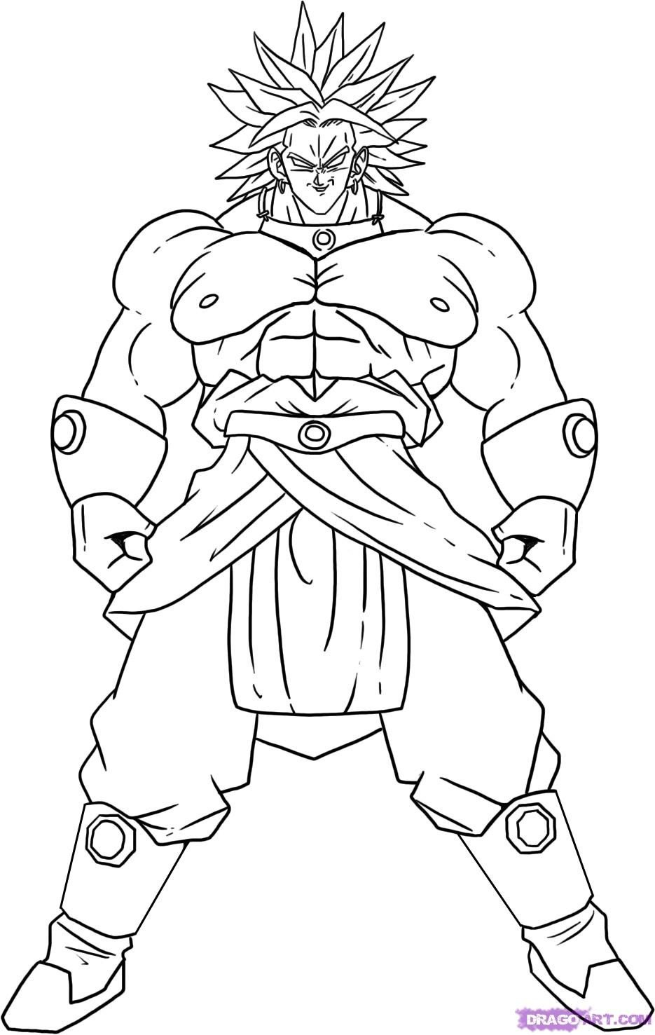 Free Printable Dragon Ball Z Coloring Pages For Kids And