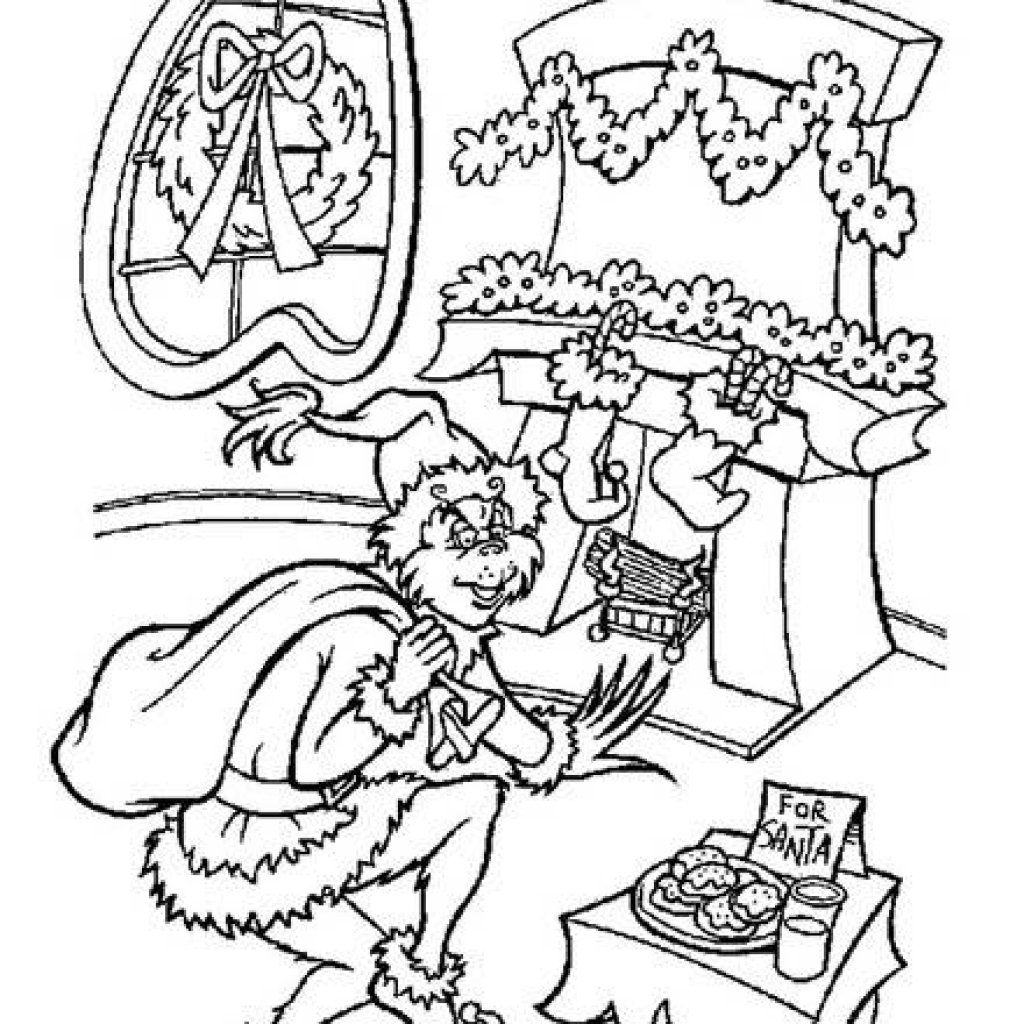 Free Printable Grinch Coloring Pages For Kids In How The Stole