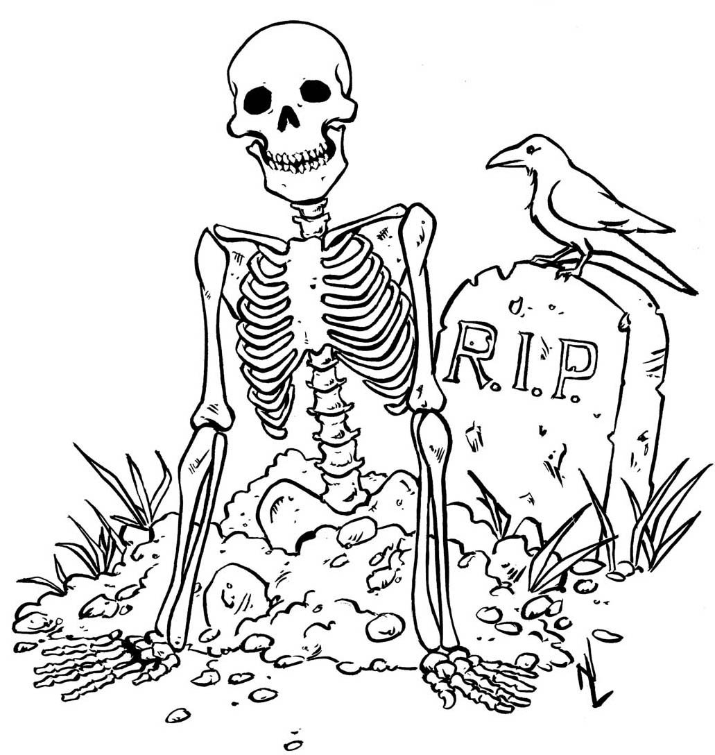 Free Printable Halloween Coloring Pages For Kids Inside Page