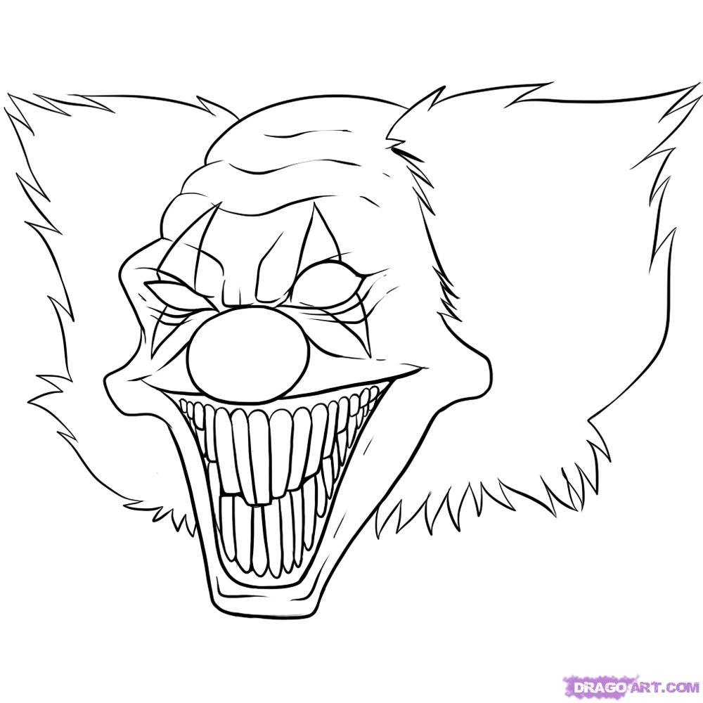Halloween ~ Free Printable Scary Halloween Coloringsfreesscarys
