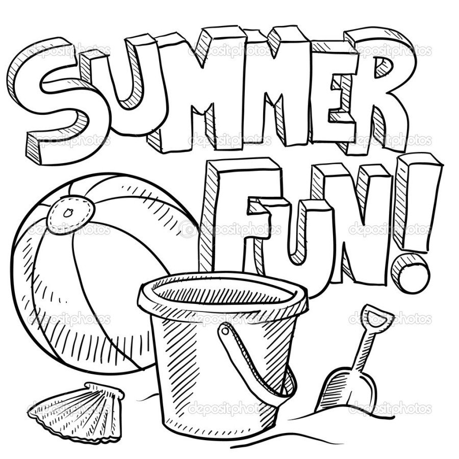 Free Printable Summer Coloring Pages Kids Throughout