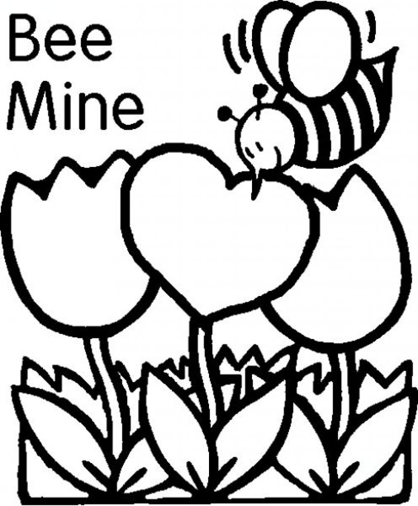Free Printable Valentines Day Coloring Images Of Photo Albums