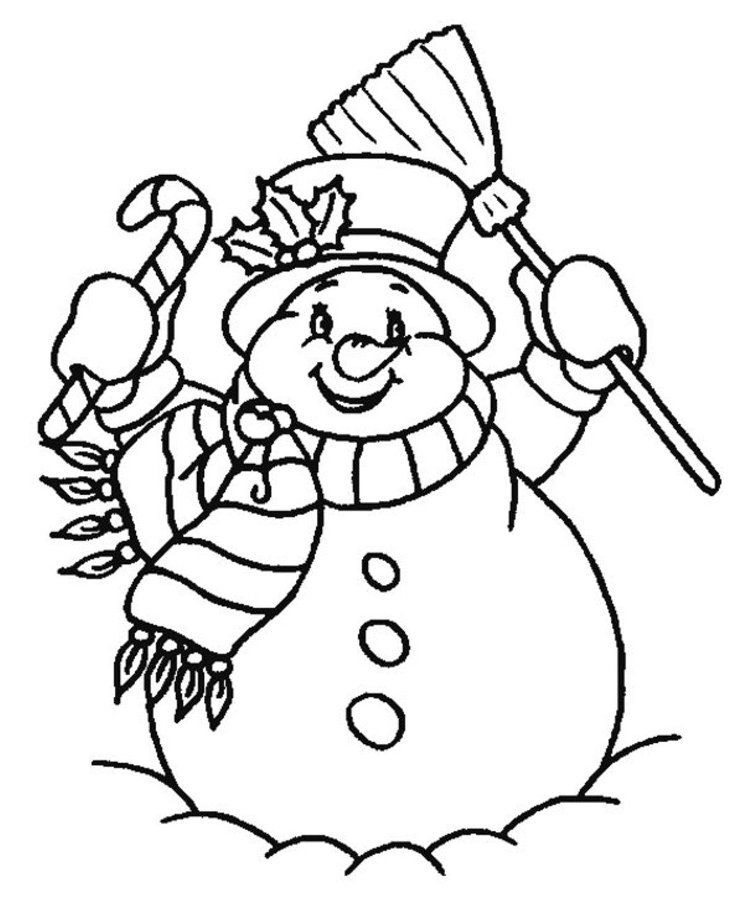 Printable Free Snowman Coloring Pages For Kids