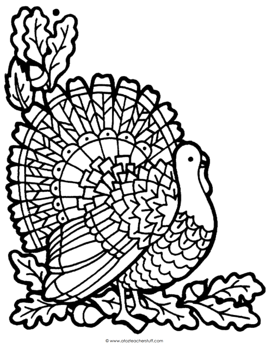 Free To Download Thanksgiving Turkey Coloring Page 90 In Picture