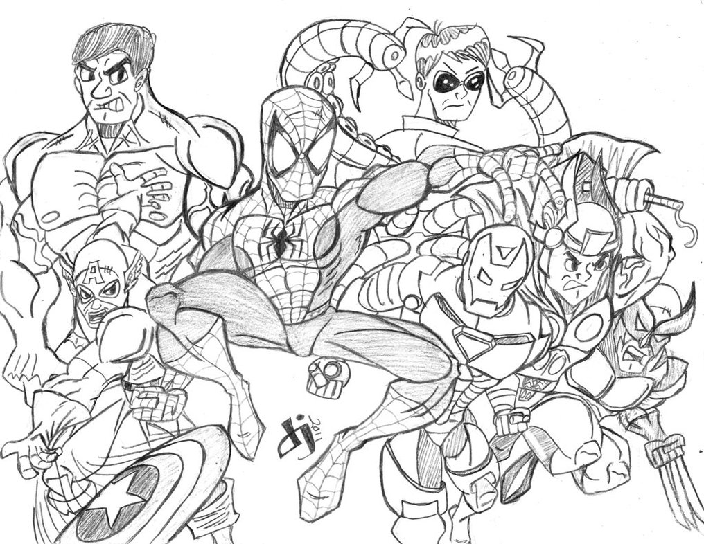 Fresh Avengers Coloring Pages To Print 18 For Coloring Pages For