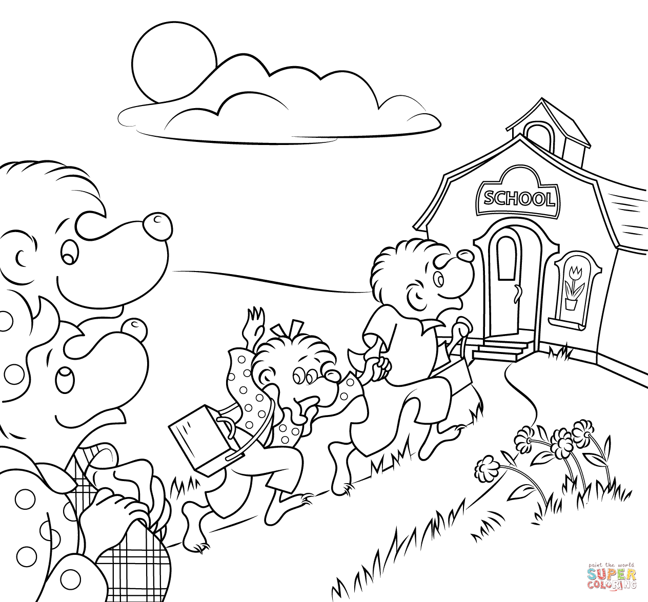 Fresh Berenstain Bears Coloring Pages 21 With Additional Coloring