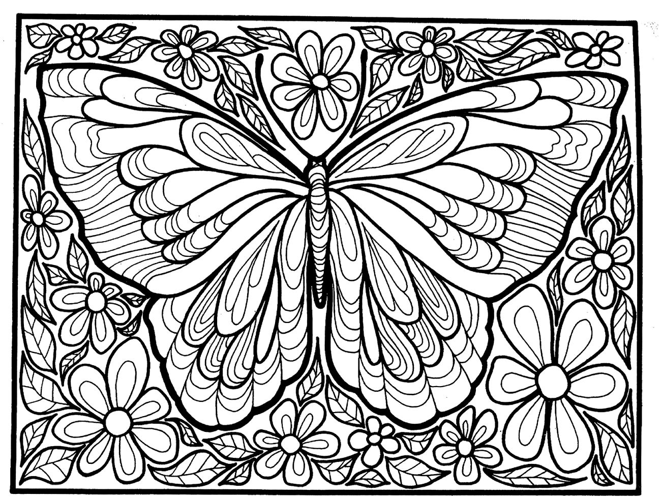 Fresh Butterfly Coloring Pages 76 For Your Download Coloring Pages