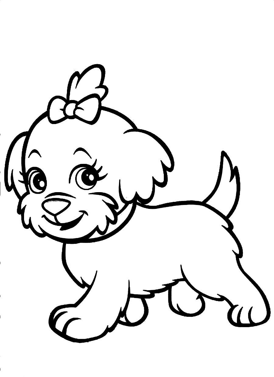 Fresh Dog Coloring Pages For Kids 32 For Coloring Books With Dog