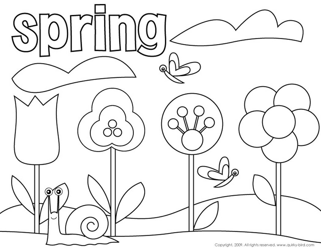 Fresh Free Spring Coloring Pages 73 On Coloring Site With Free