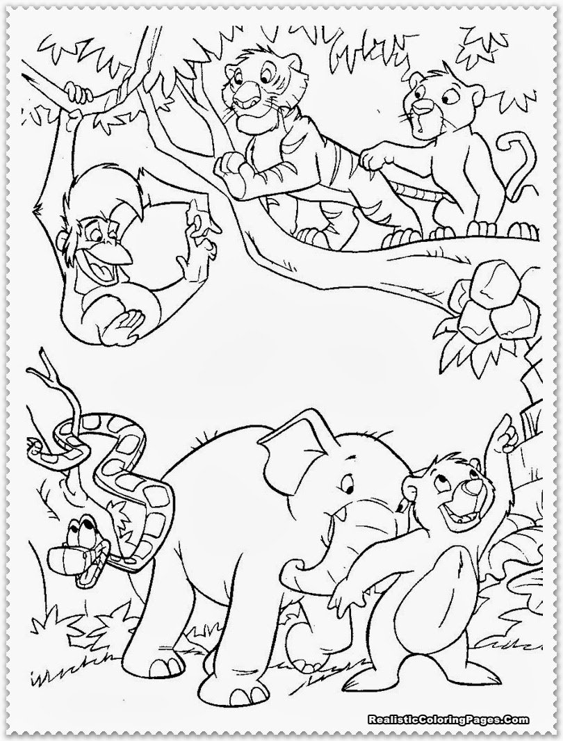 Fresh Jungle Animal Coloring Pages 39 On Free Coloring Kids With